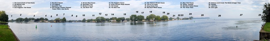 Panoramic image of Lake Erie Metropark count site